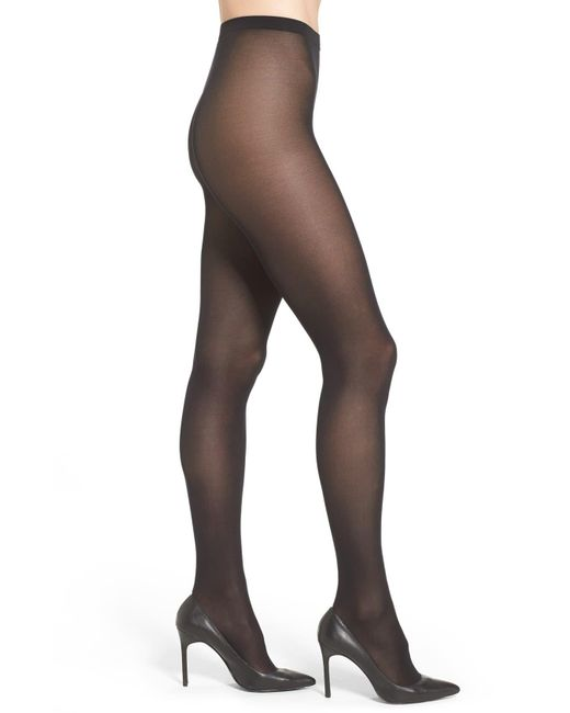 Wolford Black 'velvet De Luxe' Semi-opaque Tights