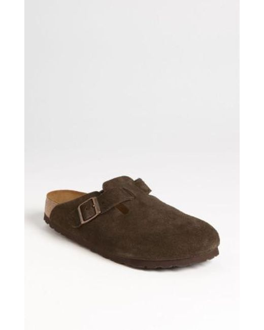 Birkenstock   Brown 'boston' Soft Footbed Clog   Lyst