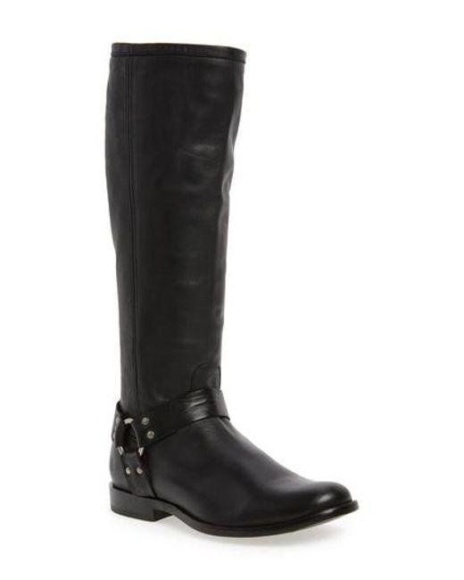 Frye   Black Phillip Harness Tall Boot   Lyst