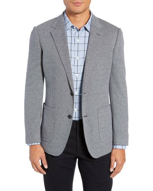 Bonobos Gray Jetsetter Slim Fit Knit Cotton Sport Coat for men