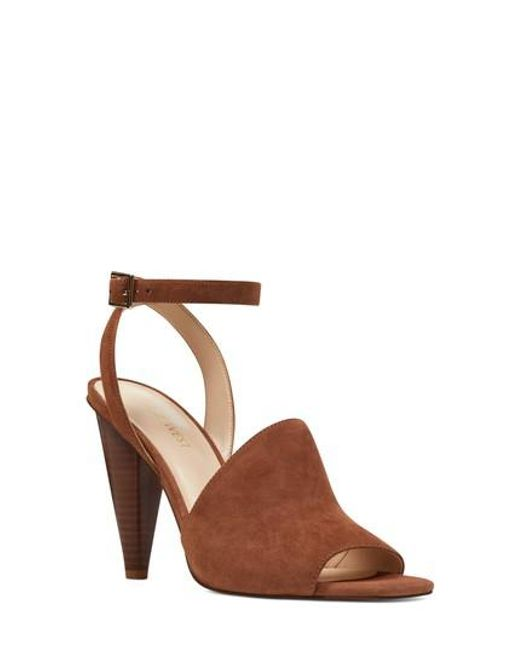 Nine West Quilty Ankle Strap Sandal In Brown Lyst