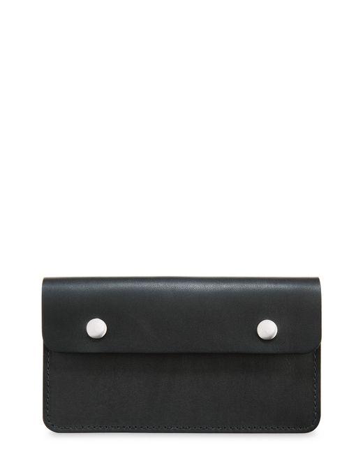Red Wing Black Leather Trucker Wallet for men