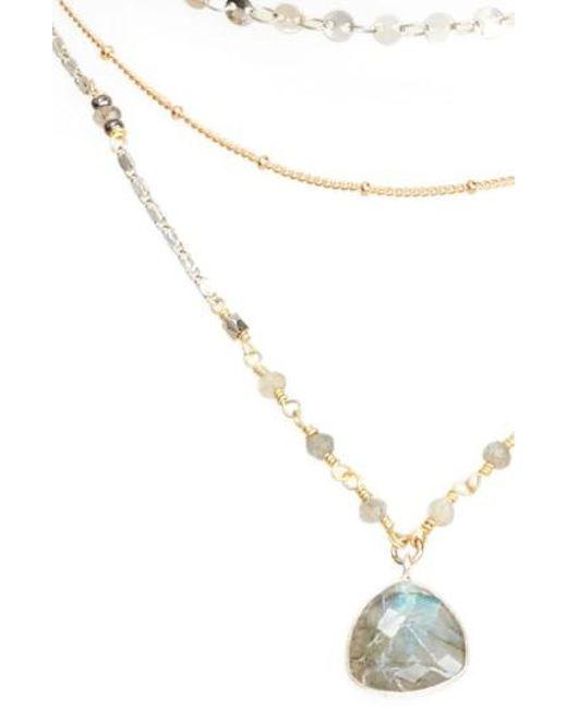 Nakamol | Gray Multistrand Necklace | Lyst