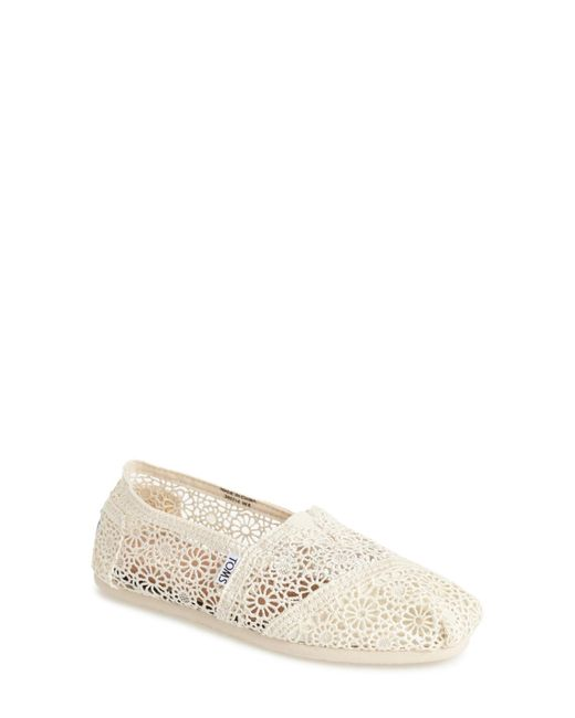 TOMS   Natural Classic Crochet Slip-on Shoe   Lyst