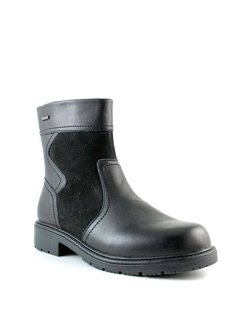 Santana Canada | Black Salvatore Weatherproof Leather Faux Fur Lined Boot for Men | Lyst