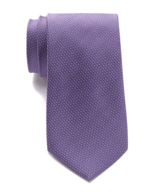 Calvin Klein - Purple Borderline Silk Tie for Men - Lyst