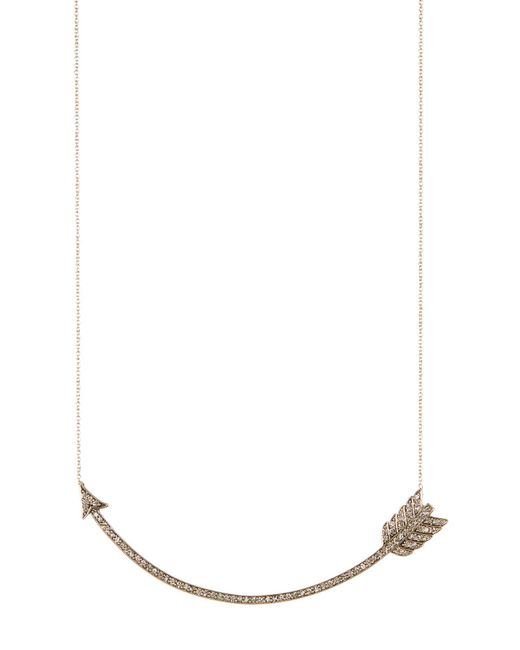 House of Harlow 1960 | Metallic Crystal Detail Curved Arrow Pendant Necklace | Lyst