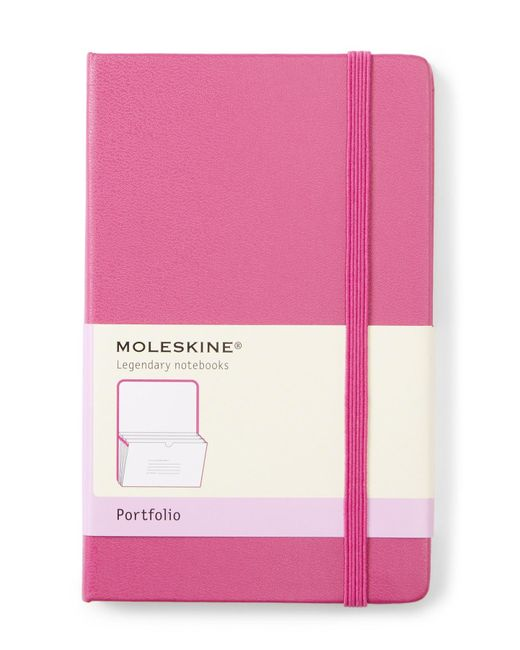 Moleskine Pink Magenta Classic Portfolio for men