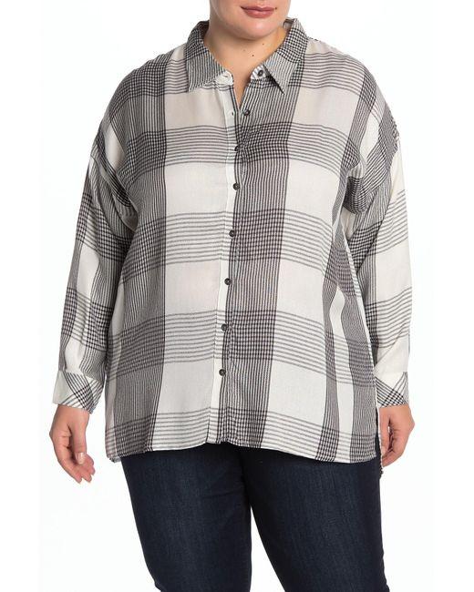 Workshop - Multicolor Plaid Long Sleeve Shirt (plus Size) - Lyst