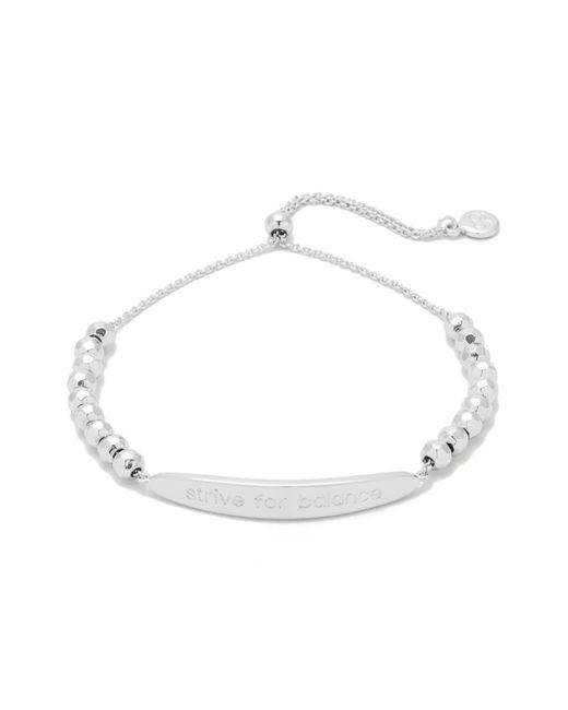 Gorjana - Metallic Power Intention Strive For Balance Bracelet - Lyst