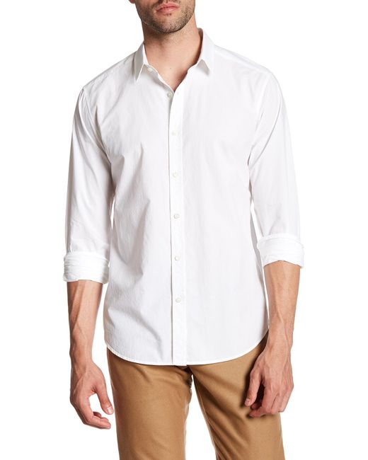 Theory | White Zack Button Up Shirt for Men | Lyst