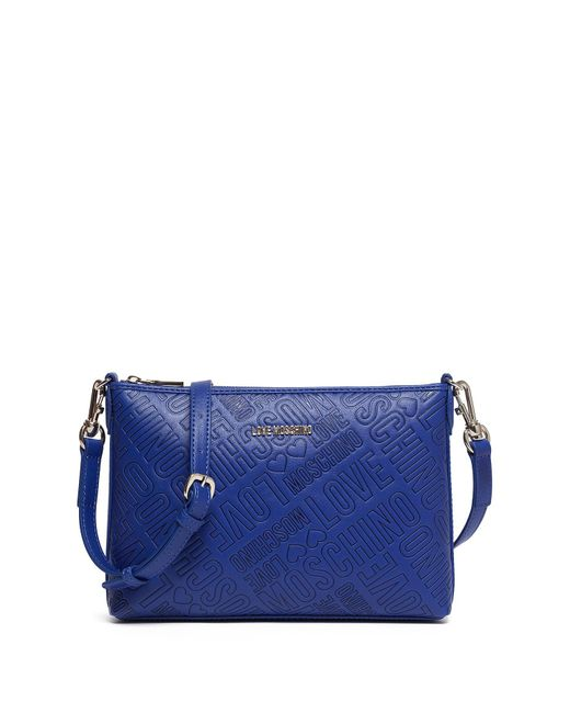 Love Moschino - Blue Embossed Clutch - Lyst