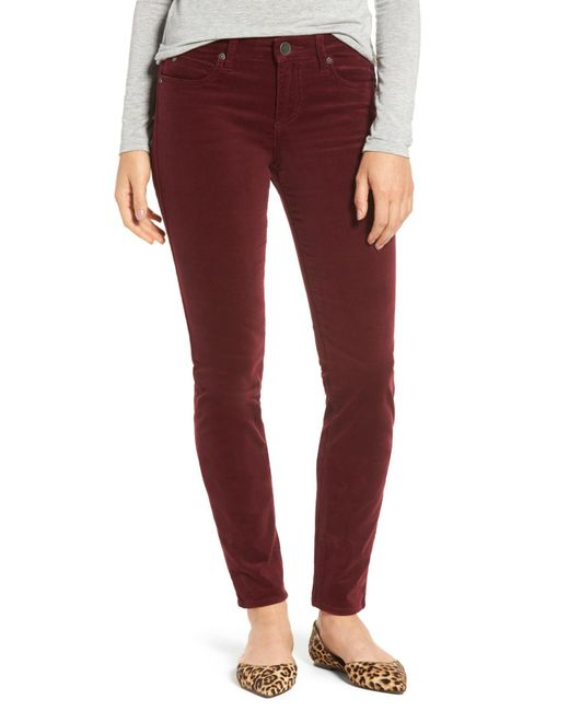 Kut From The Kloth - Red Diana Stretch Corduroy Skinny Pants - Lyst