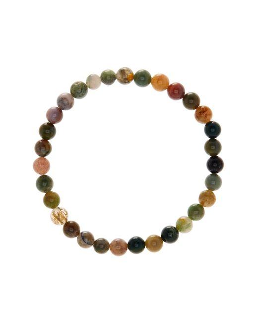Link Up - Multicolor 6mm Moss Agate Beaded Bracelet for Men - Lyst