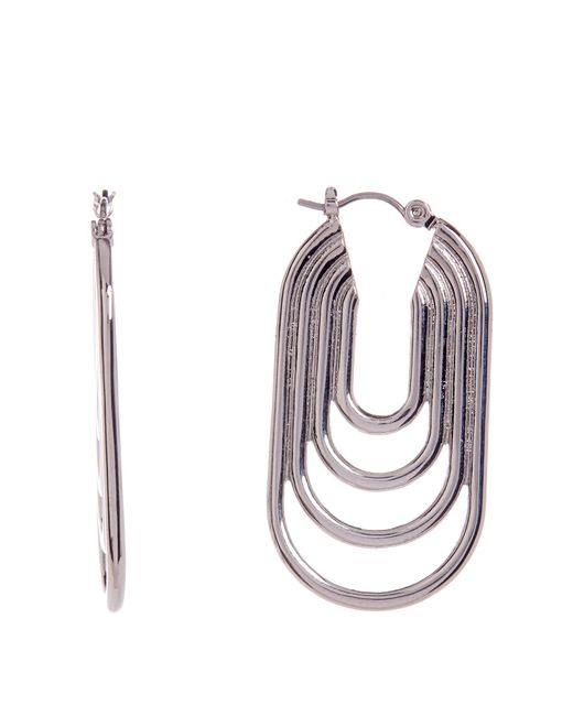 Trina Turk | Metallic Multi-ring Oval Hoop Earrings | Lyst