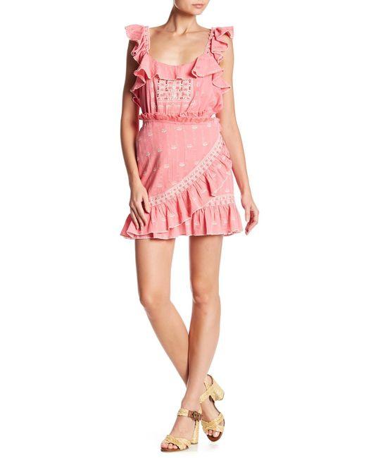 Love Sam - Pink Midsummer Mini Wrap Skirt - Lyst