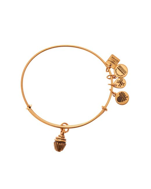 ALEX AND ANI - Metallic Charity By Design Cupcake Charm Expandable Wire Bangle - Lyst
