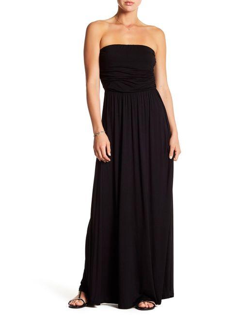 ec9545574be West Kei - Black Strapless Knit Maxi Dress - Lyst ...
