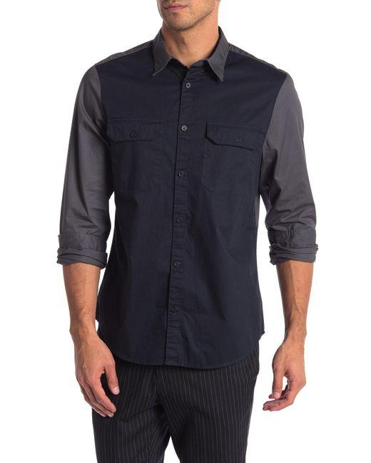 Calvin Klein - Multicolor Colorblock Long Sleeve Shirt for Men - Lyst