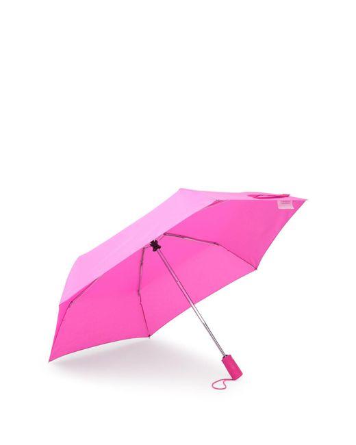 Betsey Johnson Pink Solid Auto Open & Close Umbrella
