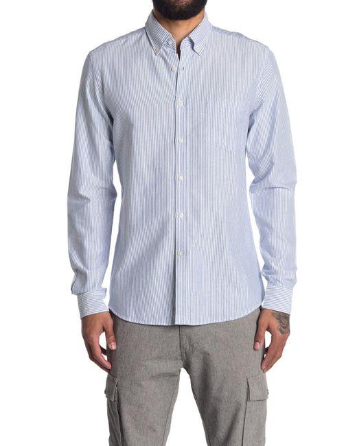 Reiss Blue Taylor Stripe Oxford Shirt for men