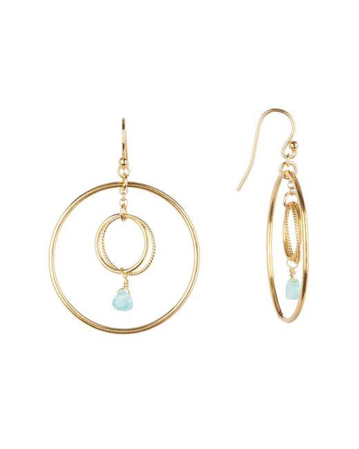 Chan Luu - Metallic Double Hoop Crystal Earrings - Lyst