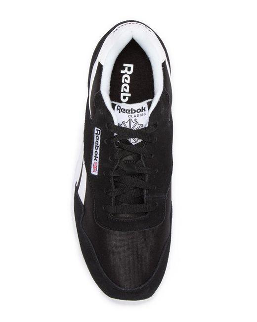 681fa75274e9 ... Reebok - Black Royal Nylon Sneaker for Men - Lyst ...