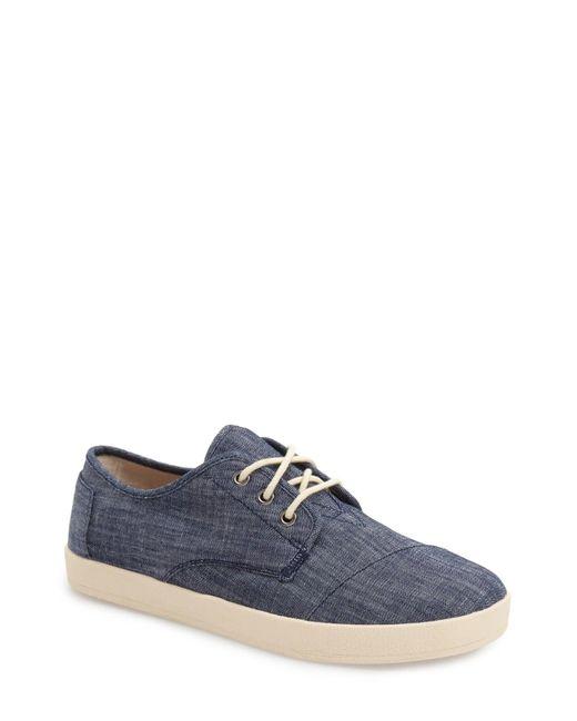 TOMS   Blue 'paseo' Sneaker for Men   Lyst
