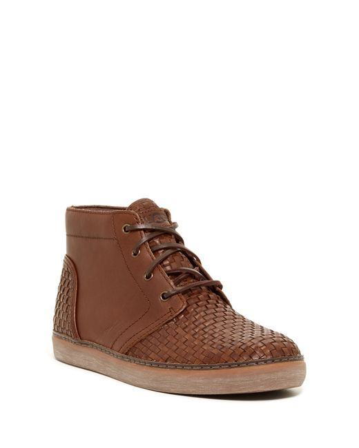 UGG Brown Australia Alin Woven Chukka Sneaker Boots for men