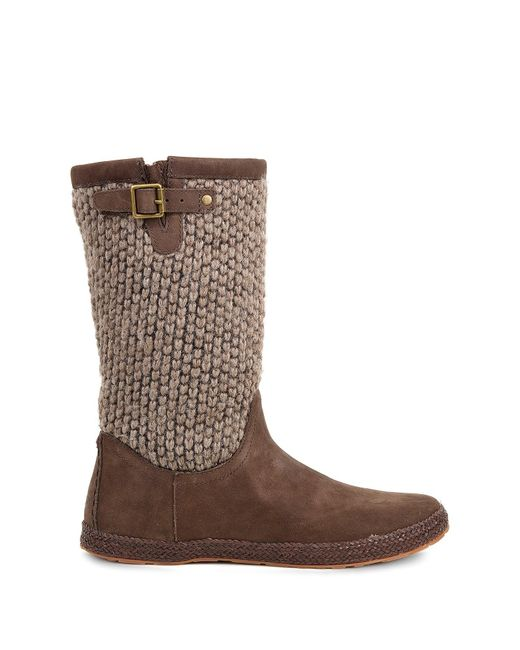 Ugg Lyza Genuine Shearling Lined Boot In Brown Lyst