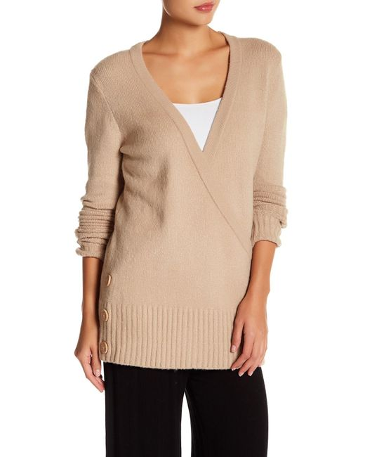 Ugg | Natural Tinley Wrapped Knit Cardigan | Lyst