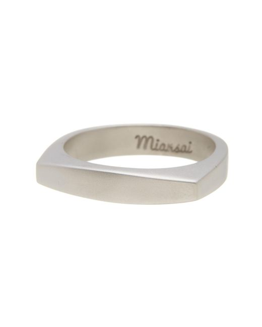 Miansai | Metallic Arched Top Ring - Size 10 for Men | Lyst
