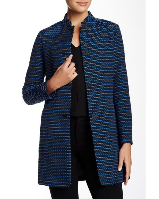 Anne Klein Tweed Jacket In Blue Black Bluebell Save 53