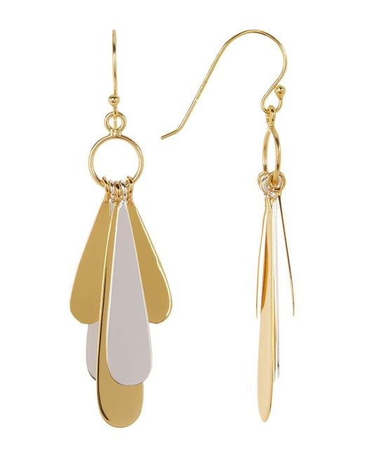 Argento Vivo | Metallic Two-tone Sterling Silver Teardrop Charm Earrings | Lyst