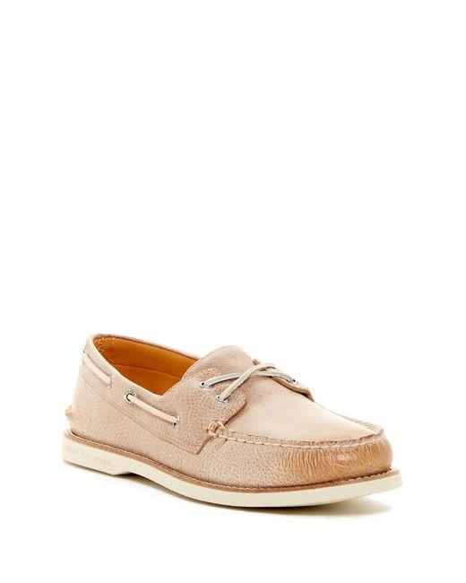 Sperry Top-Sider   Brown Gold Moc Boat Shoe for Men   Lyst
