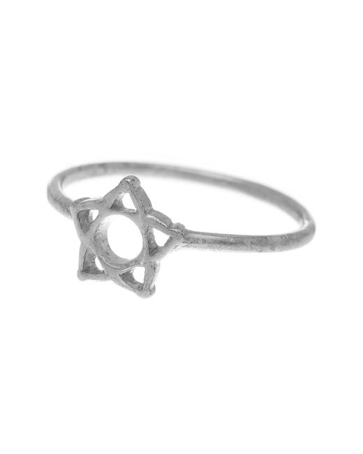 Dogeared - Metallic 14k Gold Plated Sterling Silver Large Wishbone Ring - Lyst