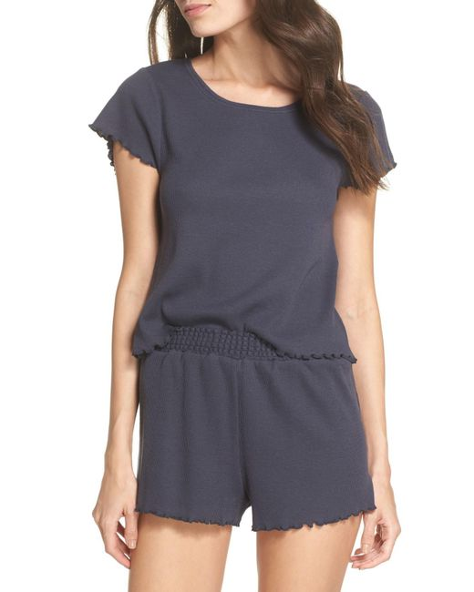 Make + Model - Blue Thermal Short Pajamas - Lyst