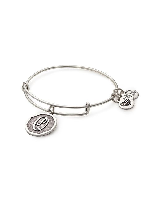 ALEX AND ANI Metallic Initial 'q' Adjustable Wire Bangle