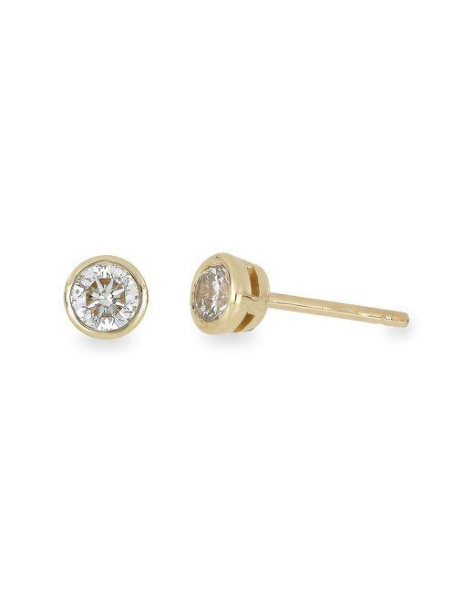 Bony Levy - Metallic 14k Gold Bezel Set Round-cut Diamond Stud Earrings - 0.15ctw - 1ctw - Lyst