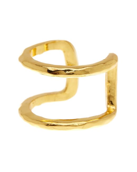 Gorjana | Metallic Teagan Hammered Cuff Ring - Size 7 | Lyst