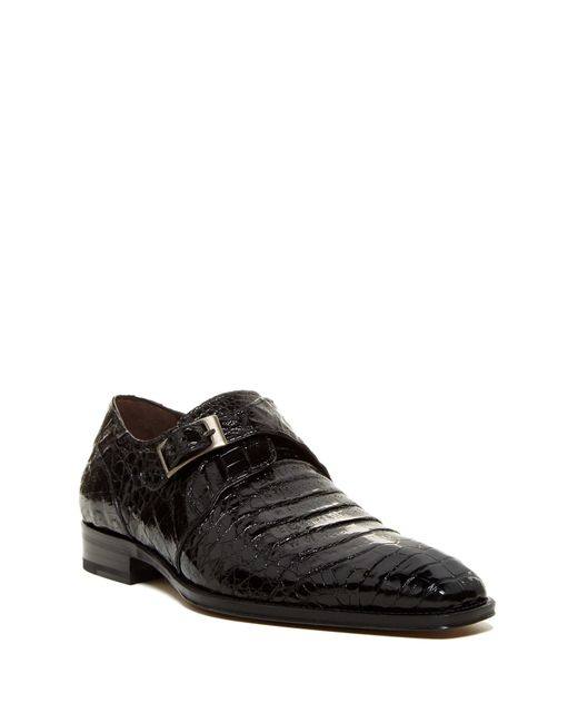Mezlan | Black Gables Genuine Crocodile Monk Strap Shoe for Men | Lyst