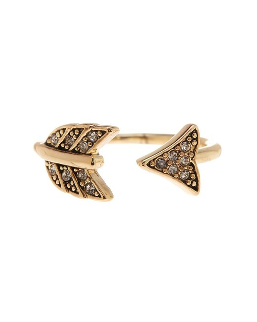 House of Harlow 1960 | Metallic Crystal Detail Open Arrow Ring - Size 5 | Lyst