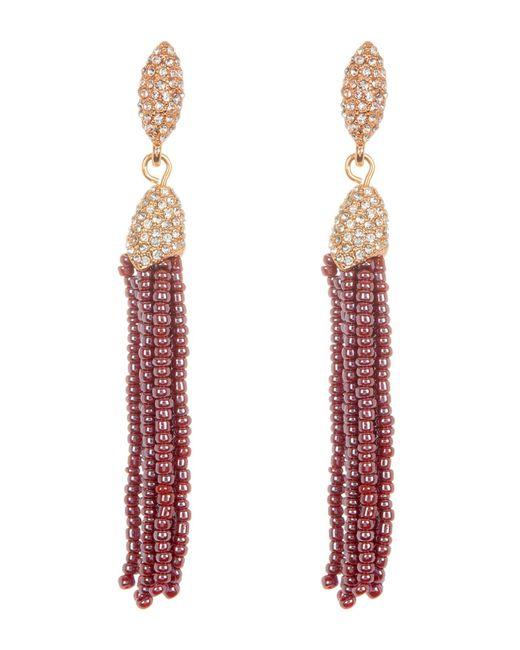 Vince Camuto - Multicolor Seed Beaded Tassel Earrings - Lyst