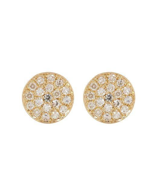 Ron Hami - Metallic 14k Gold Micro Pave Diamond Circular Stud Earrings - 0.07 Ctw - Lyst