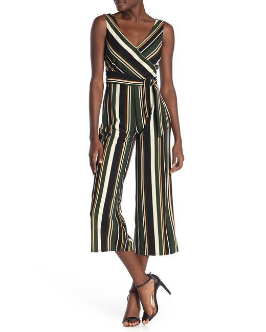 Bebe Green Front Wrap Jumpsuit