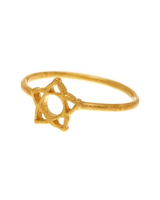 Dogeared | Metallic 14k Gold Plated Sterling Silver Star Flower Ring - Size 7 | Lyst