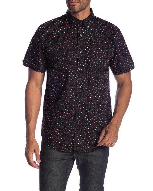 Ben Sherman - Black Shadow Spot Shirt Long for Men - Lyst