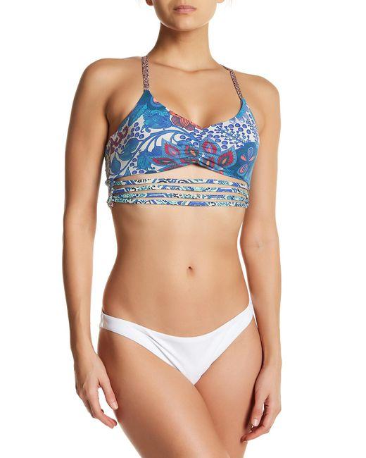 Maaji   Blue Glacier Roads Soft Cup Reversible Bikini Top   Lyst