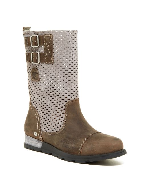 Sorel | Gray Major Pull-on Perforated Boot (women) | Lyst