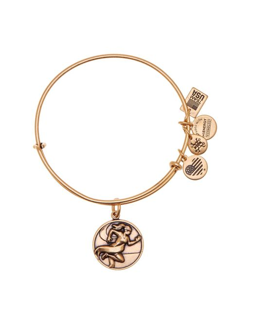 ALEX AND ANI - Metallic Team Usa Track & Field Expandable Wire Charm Bracelet - Lyst